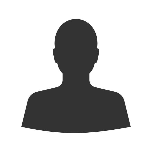 stockillustraties, clipart, cartoons en iconen met man's silhouet glyph pictogram - menselijk hoofd