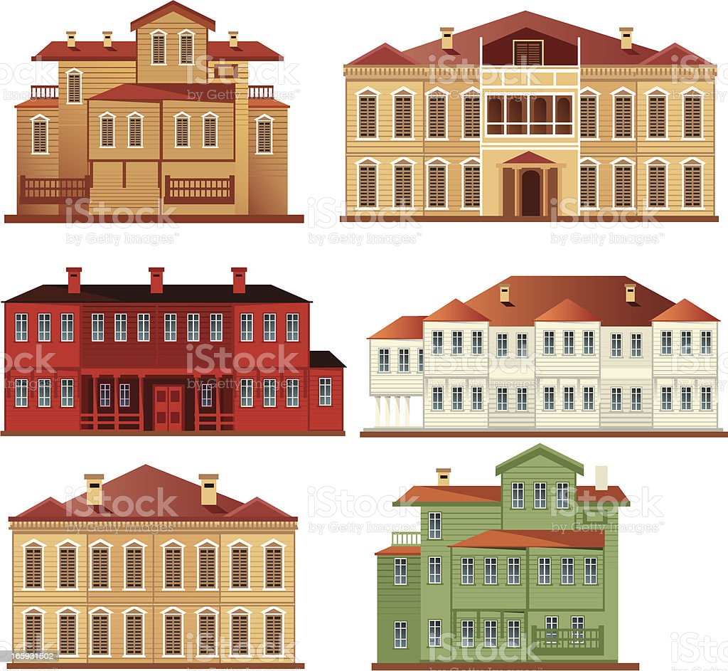Mansion vector art illustration