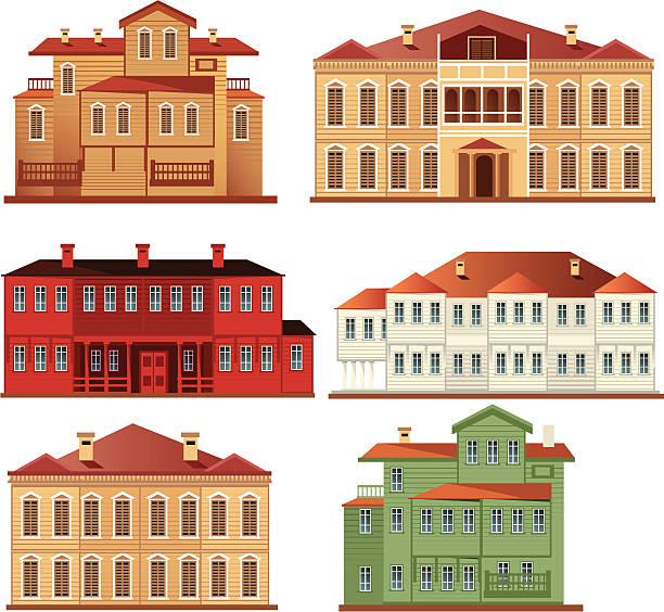 Mansion Vector mansion villa stock illustrations