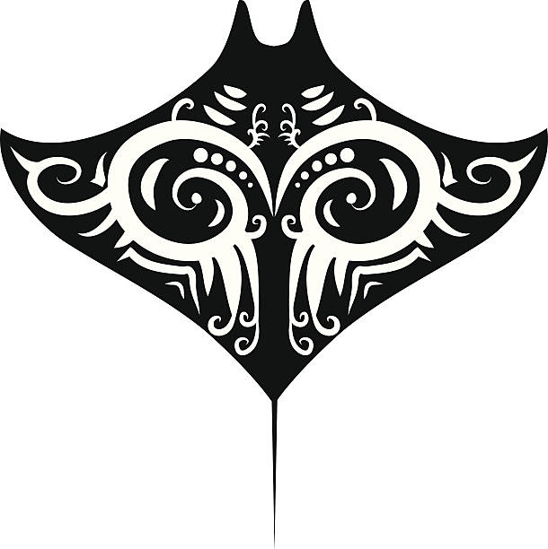 Royalty Free Pacific Manta Rays Clip Art Vector Images
