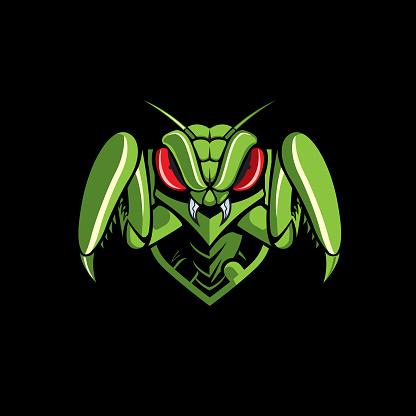 Mantis emblem logo. vector