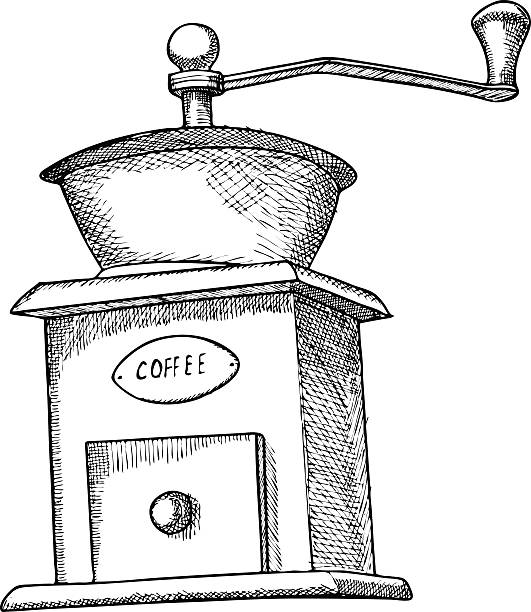 Best Coffee Hand Grinder Illustrations, Royalty-Free