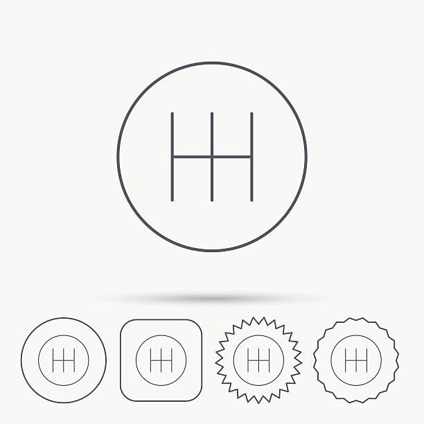 Best Gear Shifter Illustrations, Royalty-Free Vector