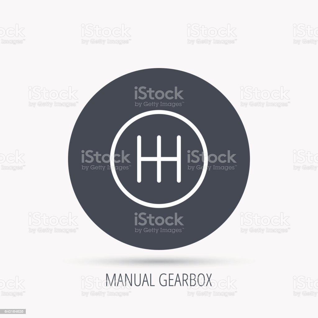 Manual Gearbox Icon Car Transmission Sign Stock Vector Art 640164636