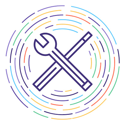 Manual Handling Line Icon Illustration