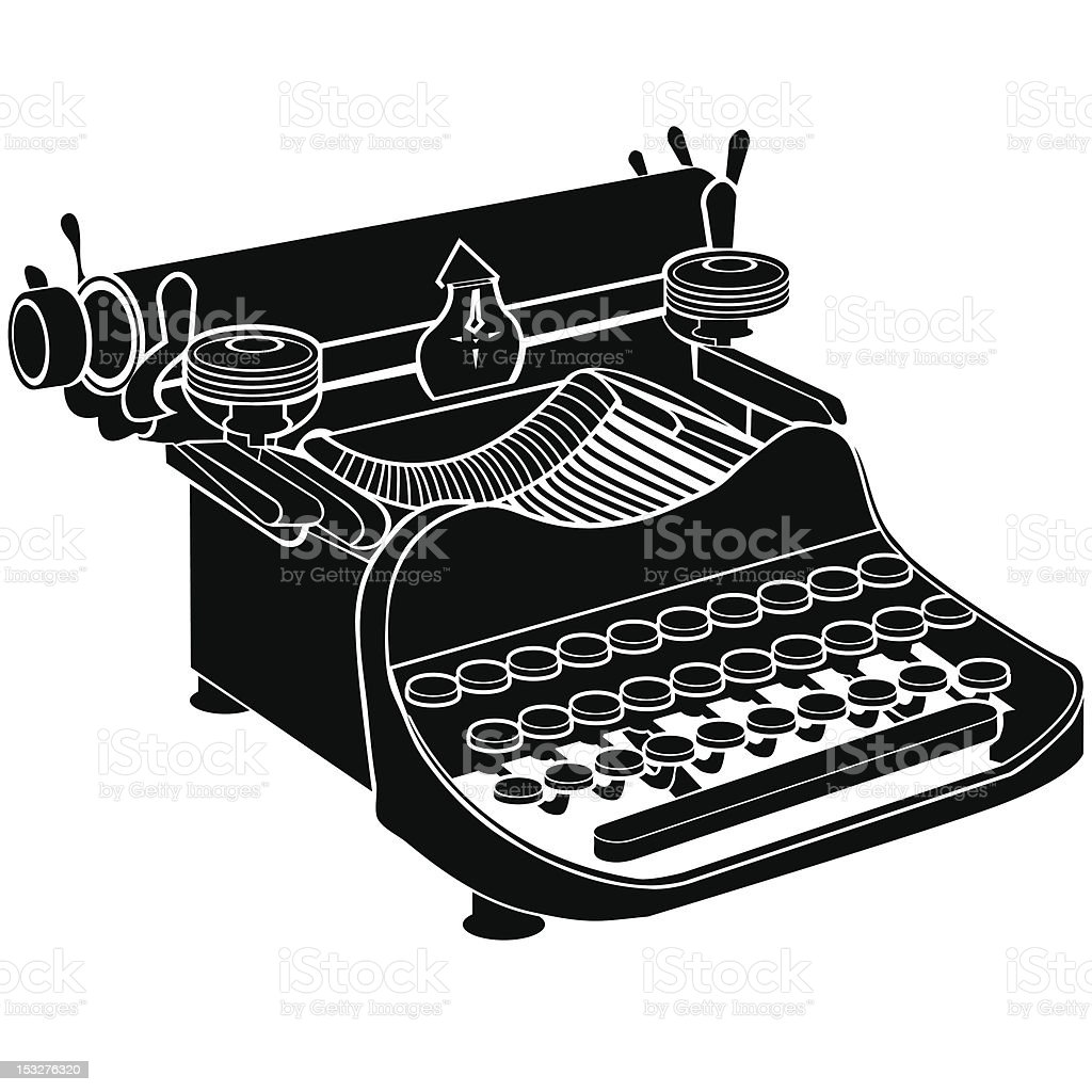Manual typewriter vector illustration royalty-free stock vector art