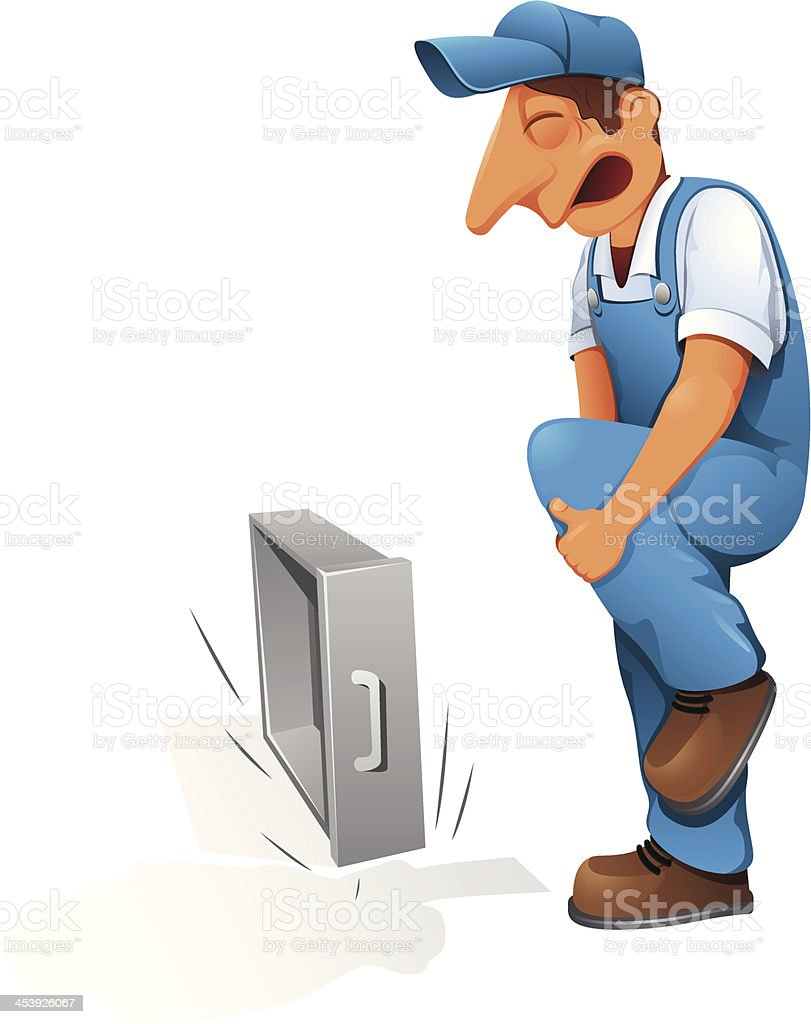 Manual Worker - Illustration royalty-free stock vector art