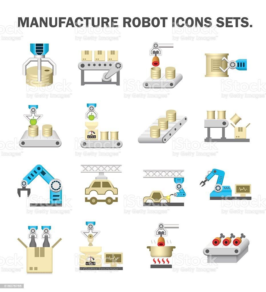 Manufacture Robot vector art illustration