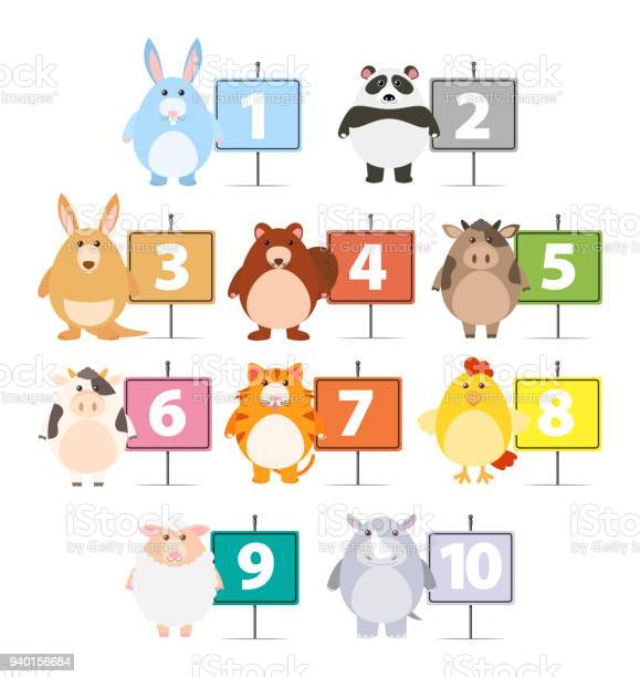 Many animals and numbers one to ten vector id940156684?b=1&k=6&m=940156684&s=612x612&h=bdr veisy4nmnl9pou0khaxt3mlo9 08pqorlw95dlo=
