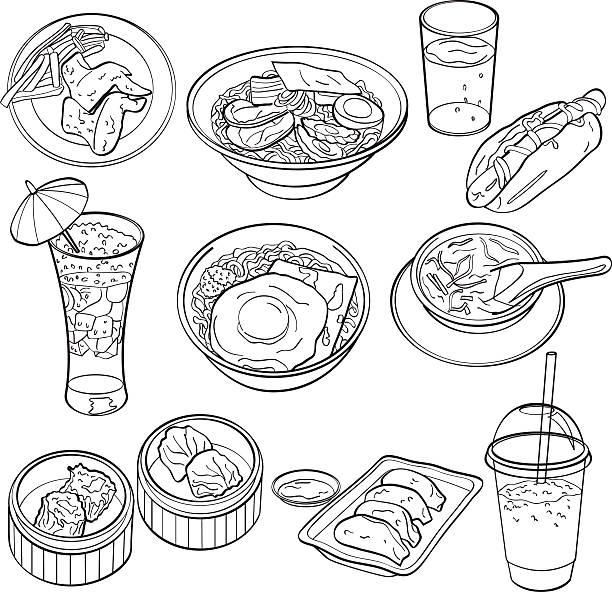お食事とお飲み物 - ラーメン点のイラスト素材/クリップアート素材/マンガ素材/アイコン素材