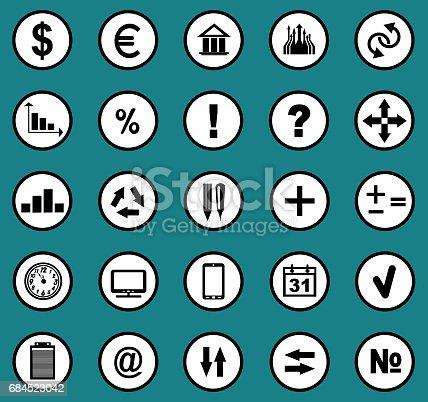 istock Many black universal web icons 684523042