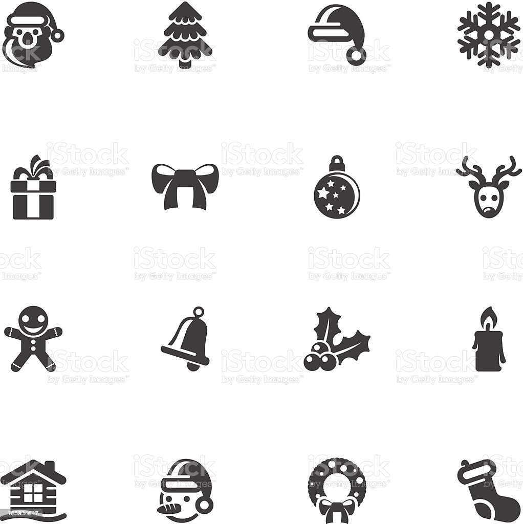 Many different Christmas computer Icons royalty-free stock vector art