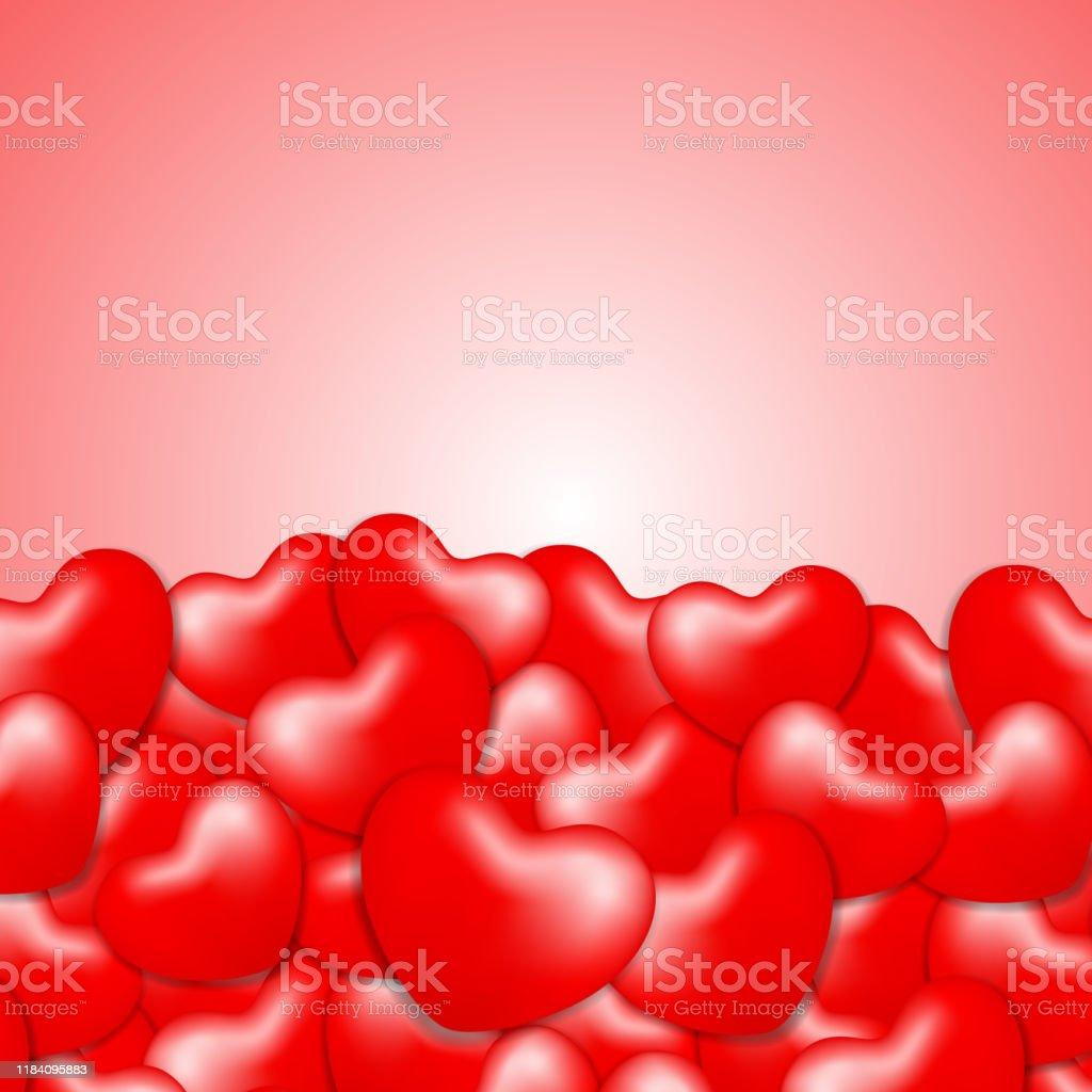 コピースペースバレンタインラブカード壁紙ハート形状赤バレンタイン美