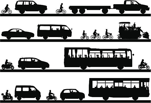 Siluetas de vehículos y transporte