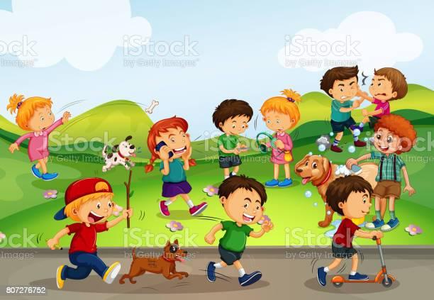 Many kids playing in the field vector id807276752?b=1&k=6&m=807276752&s=612x612&h=jsc3f1bz1elgqr87cb9t2qen0asajnhbplru6sjkqfy=