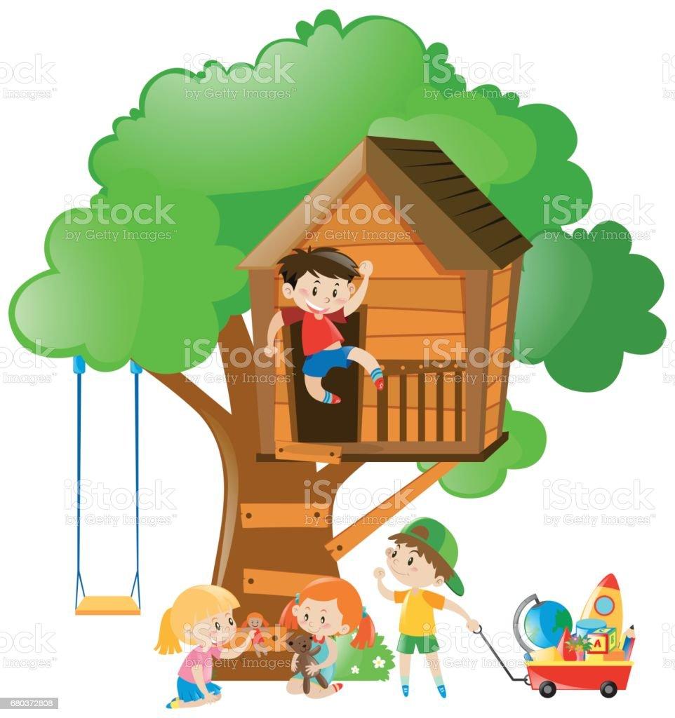 royalty free tree house clip art vector images illustrations istock rh istockphoto com magic tree house clipart build a treehouse clipart