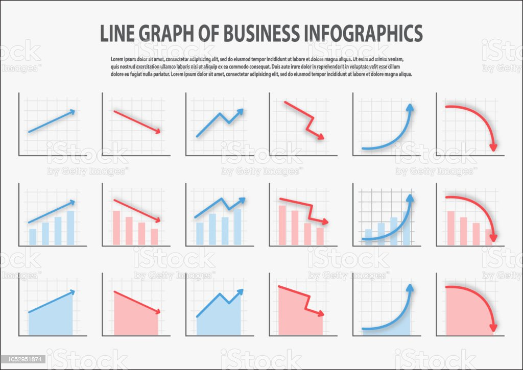many type of line chart for business sale forecastdata presentation