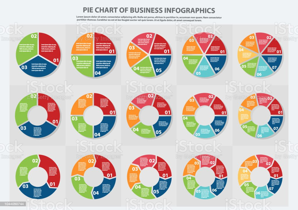 Many Type Of Pie Chart For Business Sale Forecastdata Presentation