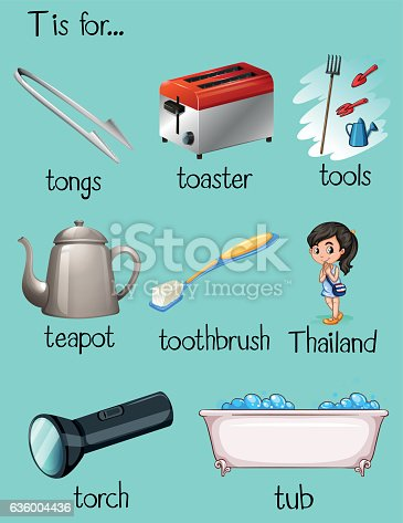 istock Many words begin with letter T 636004436
