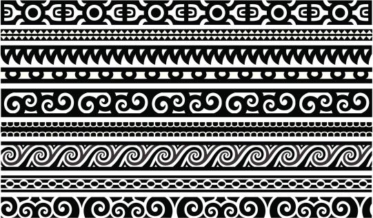 Maori tattoo stock illustrations