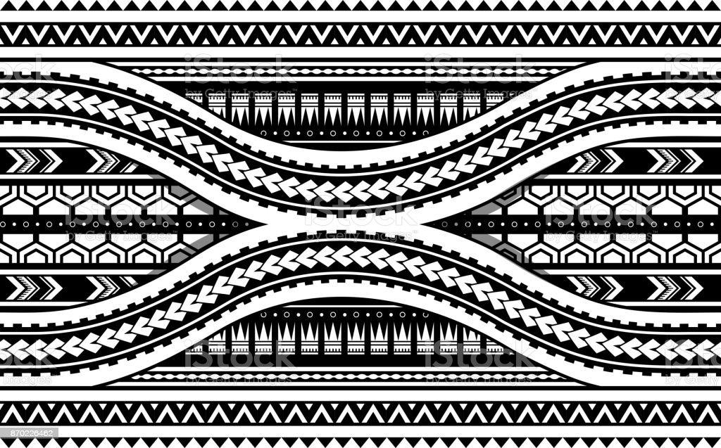 Ilustracion De Maories Del Estilo Del Ornamento Horizontal Del - Fotos-de-maories