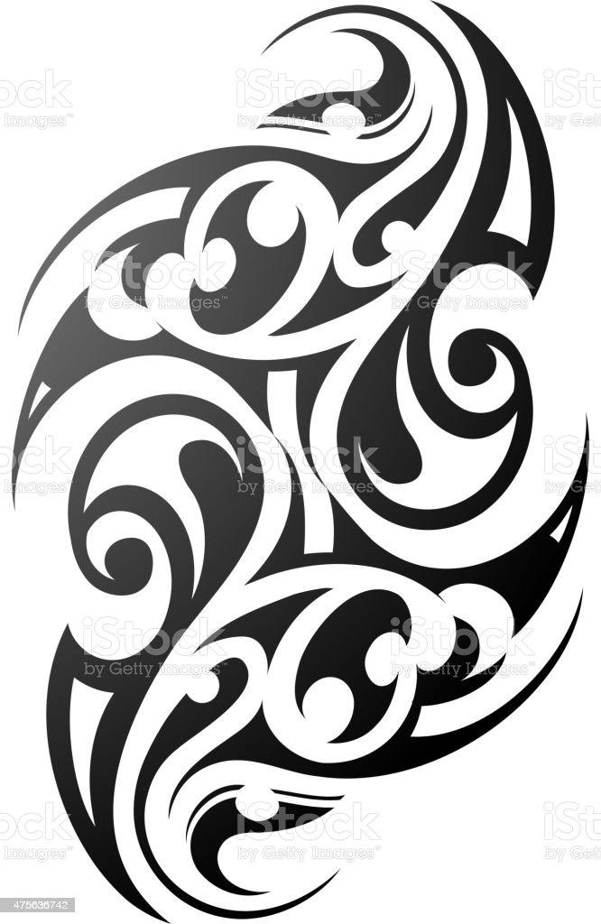 Maori style ethnic tattoo vector art illustration