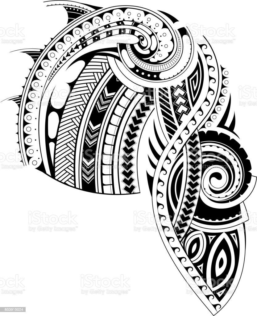 マオリはスリーブ タトゥー テンプレートをスタイルします