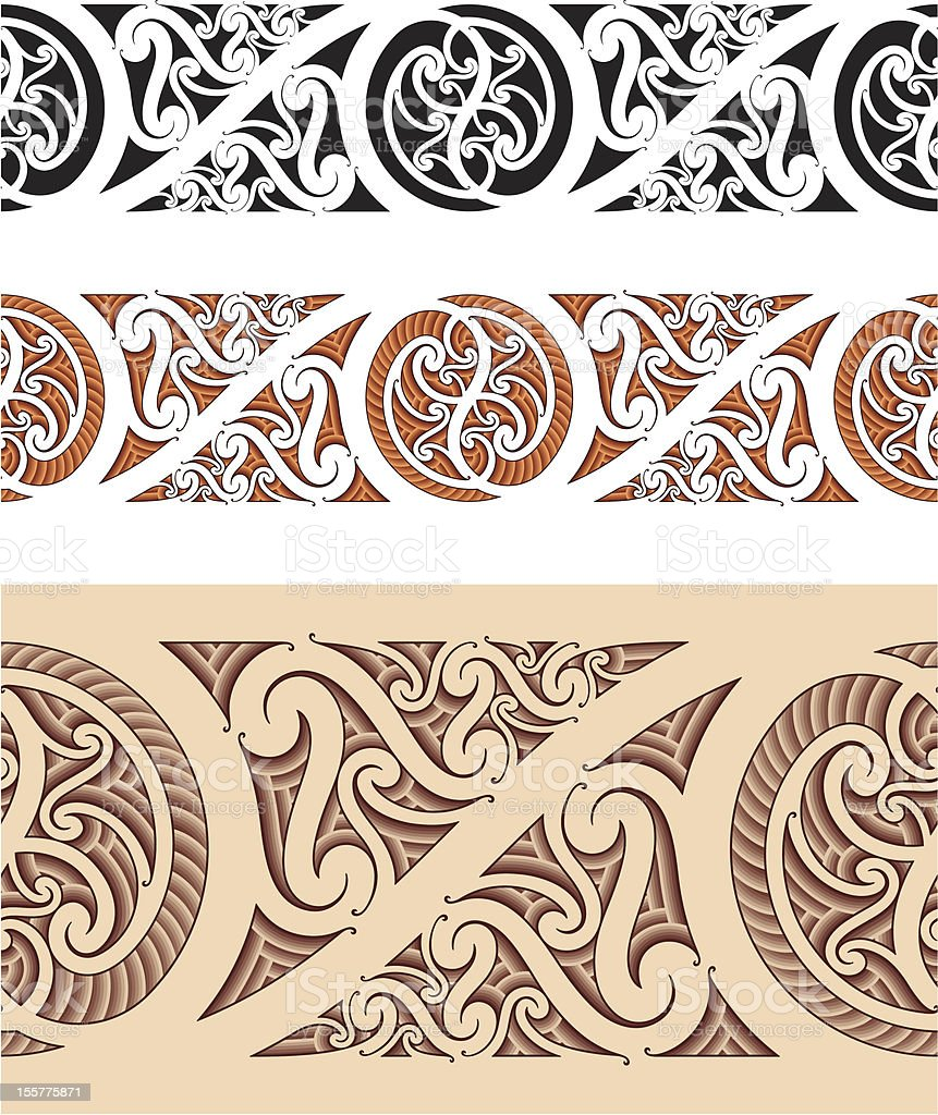 Maori styled seamless pattern royalty-free stock vector art