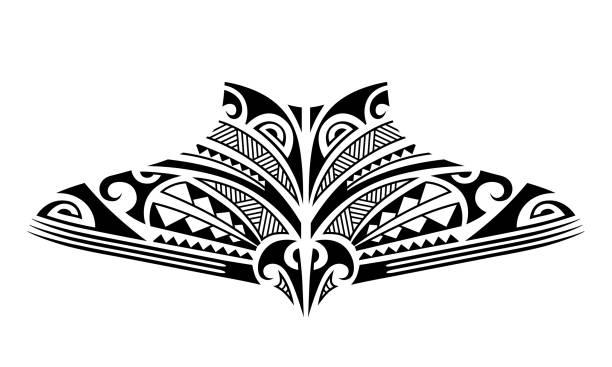 neck tattoos stock illustrations