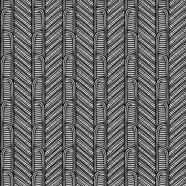 ilustraciones, imágenes clip art, dibujos animados e iconos de stock de patrón tribal maorí vector inconsútil. estampado de tejido africano. arte indígena polinesio étnico. fondo peruano blanco negro - tatuajes tribales