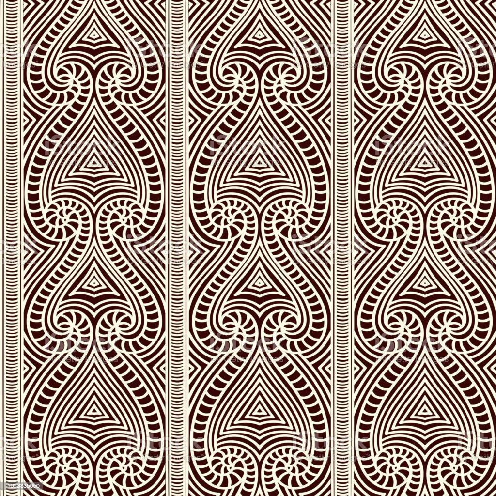Polynesian Tribal Wallpaper: Maori Tribal Pattern Vector Seamless African Fabric Print