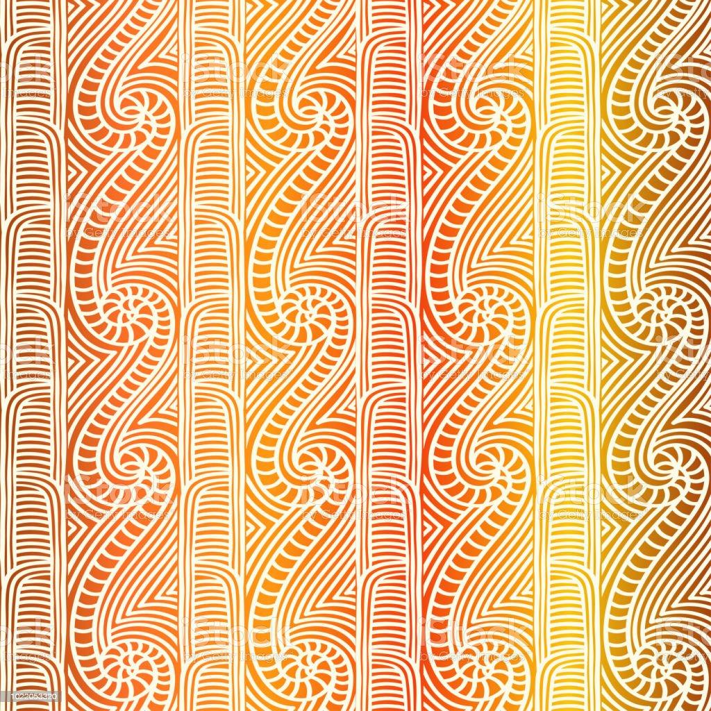 Polynesian Tribal Wallpaper: Maori Tribal Pattern Vector Seamless African Fabric