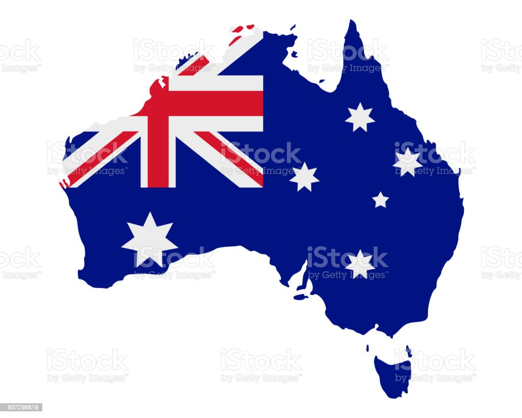 Map And Flag Of Australia Stock Vector Art & More Images of ...