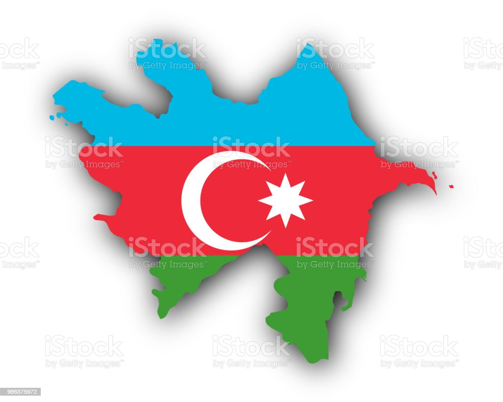 Map And Flag Of Azerbaijan Stock Illustration Download Image Now Istock