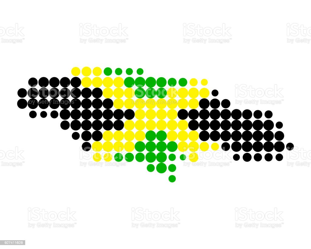Map And Flag Of Jamaica Stock Vector Art More Images Of