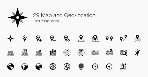 29 Map and Geo-location Pixel Perfect Icons Here is a set of icon created for map and geo-location. If you creating apps that required to show maps and other GPS functionalities, then this is the right set for you. distant stock illustrations