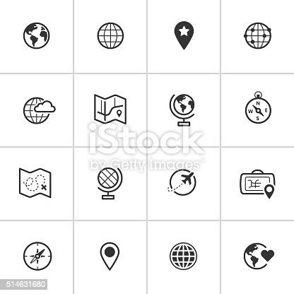 Professional icon set in flat black style. Vector artwork is easy to colorize, manipulate, and scales to any size.