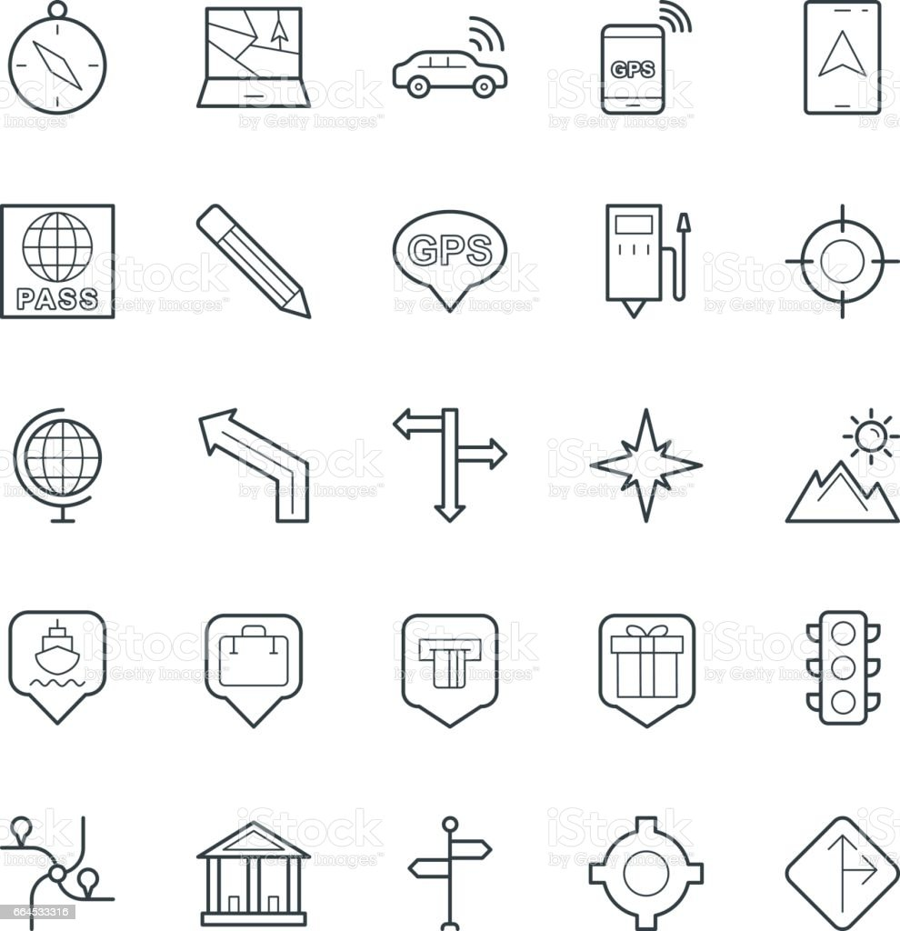 Map and Navigation Cool Vector Icons 2 royalty-free map and navigation cool vector icons 2 stock vector art & more images of bank