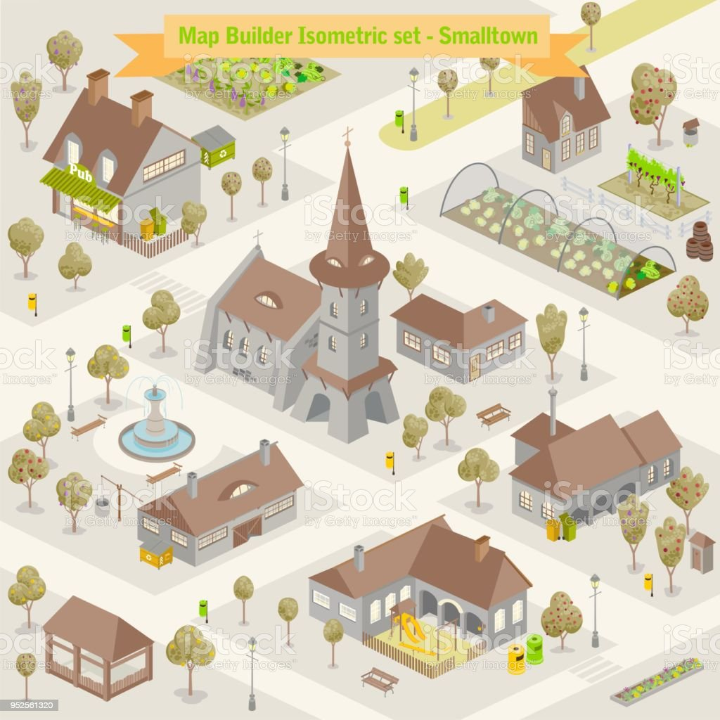 Map Builder Isometric Set In Vector Format Illustration Of A ... on housing maps, google maps mania, map software for os x, maps of the world, map captain, maps on us, map creation freeware, map engineering company, map maker pro, map of amtrak through glacier park,