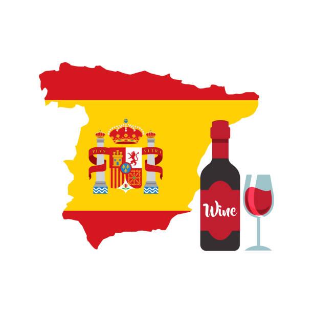 map classic icon of Spanish culture vector art illustration