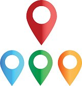 map colors icon on white background. map color sign. map point.