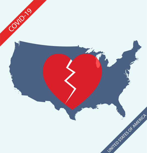 米国地図コロナウイルス - corona newyork点のイラスト素材/クリップアート素材/マンガ素材/アイコン素材