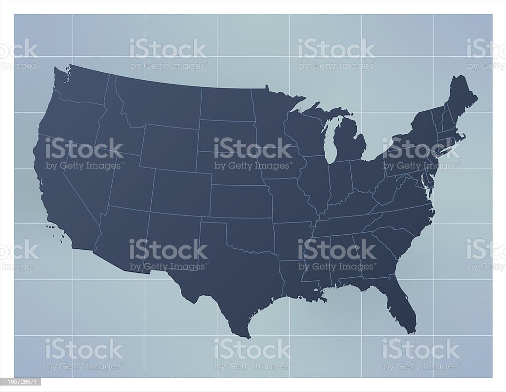 USA map dark blue royalty-free usa map dark blue stock vector art & more images of arkansas