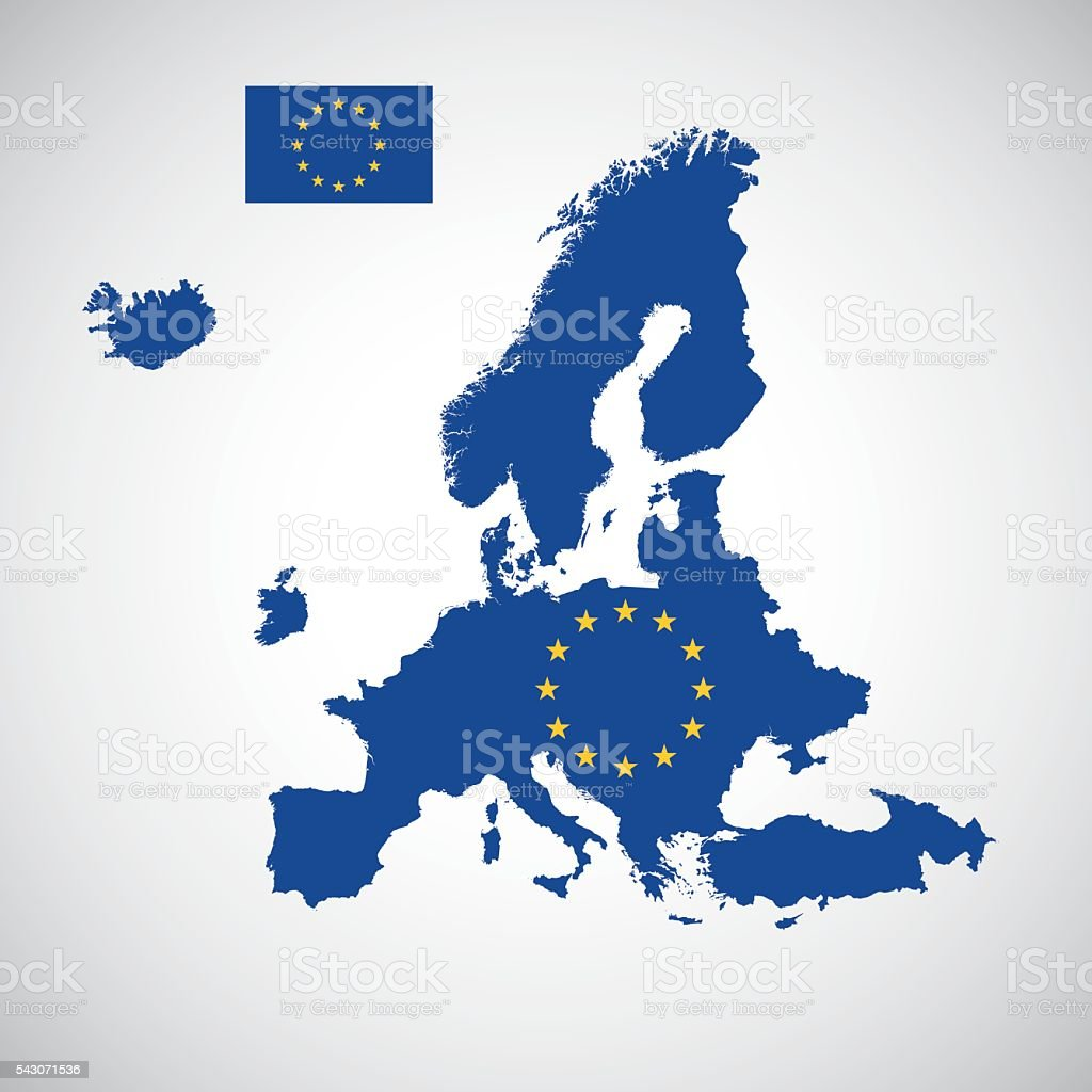 Map europe with and without great britain stock vector art more map europe with and without great britain royalty free map europe with and without great gumiabroncs Images