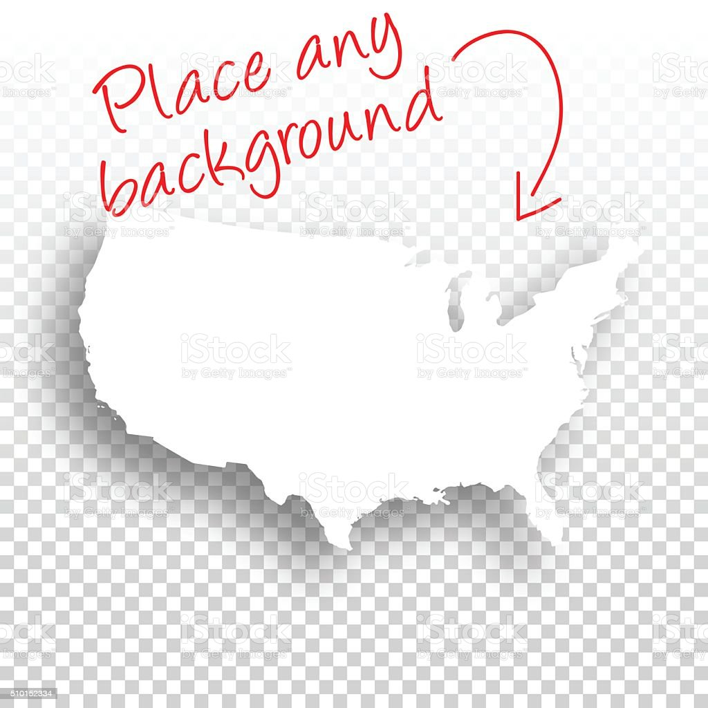 Usa Map For Design Blank Background Stock Vector Art - Usa maps blank
