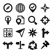 Map, GPS and Navigation icons set.