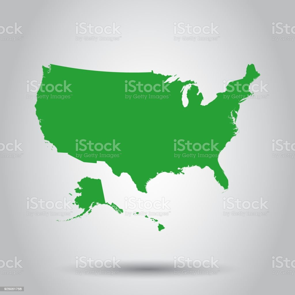map world map alaska us state country geographic area hawaii islands usa map icon business cartography concept united states