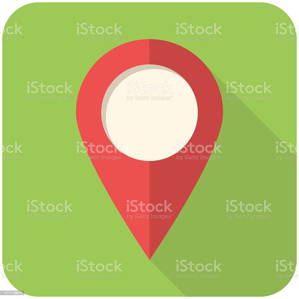 A map icon indicating a point of place vector art illustration