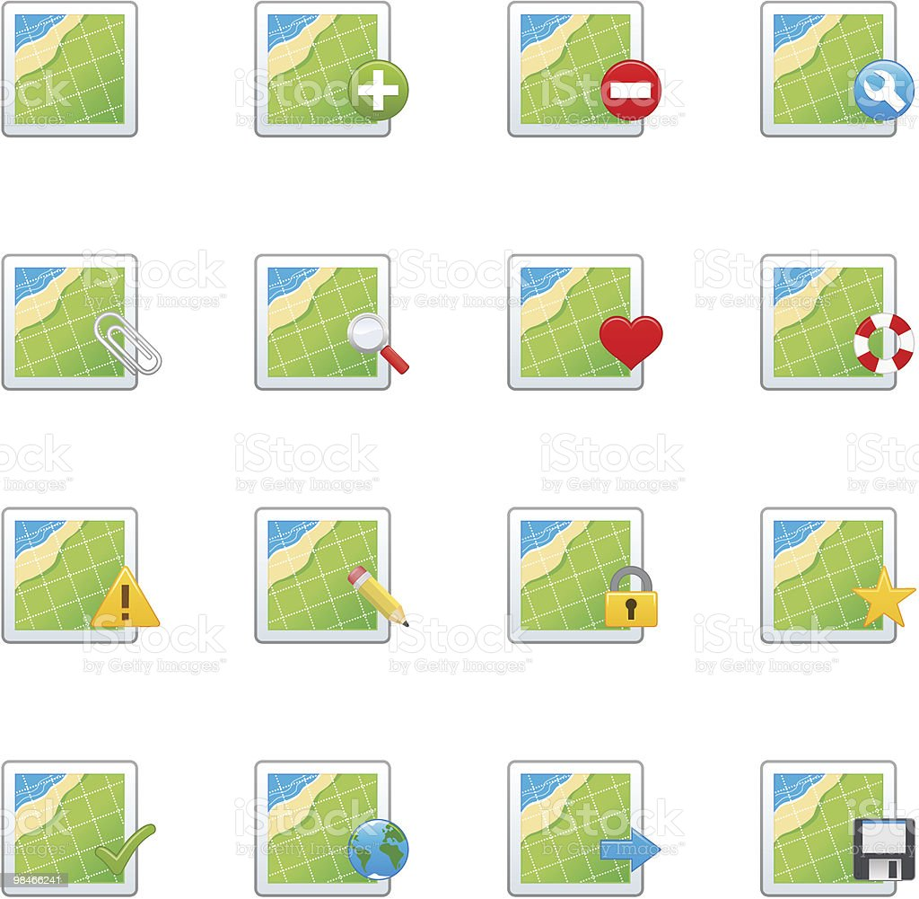 Map Icon Set royalty-free map icon set stock vector art & more images of arrow symbol
