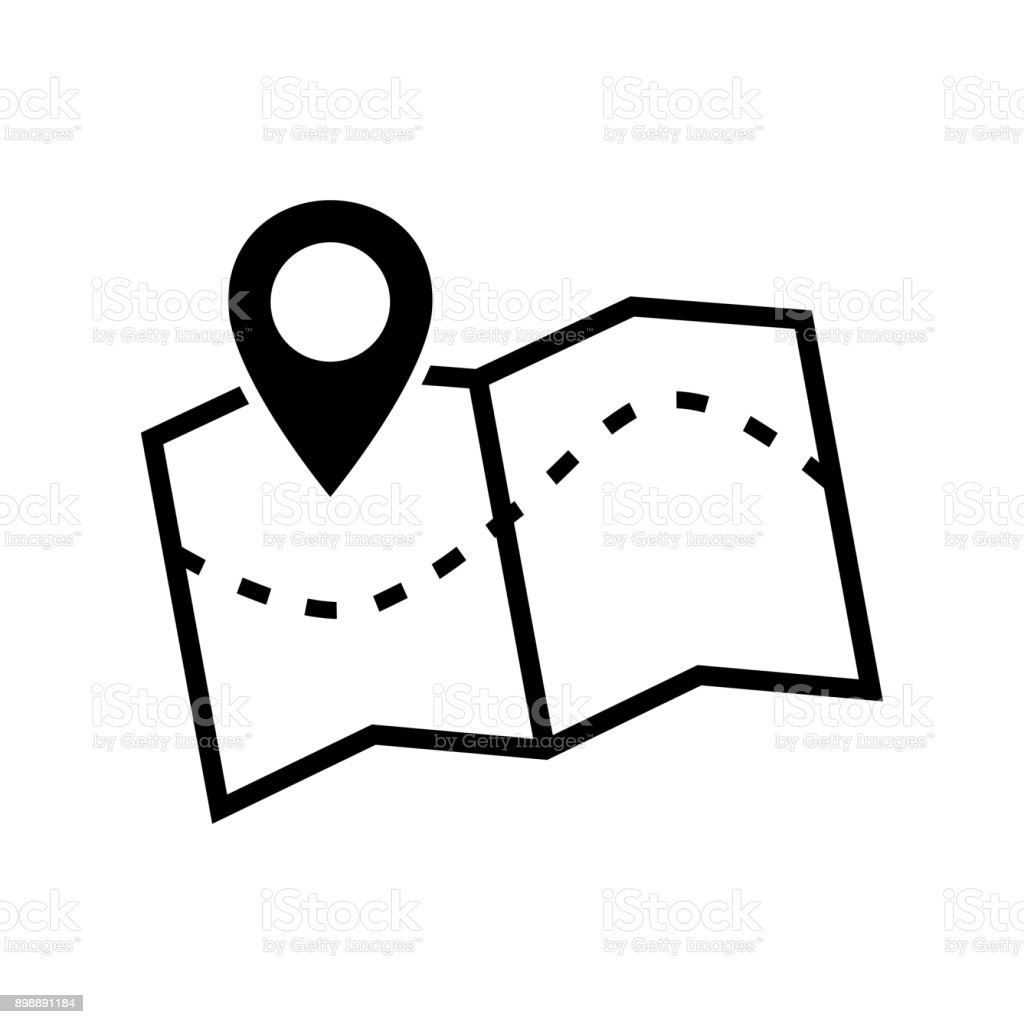 Map icon. Vector image of a location map icon.